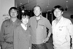 Tom and his old colleagues from Urahoro