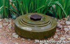 An anti-tank mine