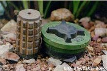 A POMZ blast mine and a PMO2 fragmentation mine from Cambodia